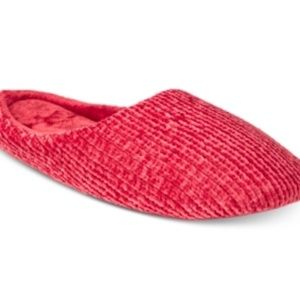 Charter Club Red Chenille Mule Slippers Size Large